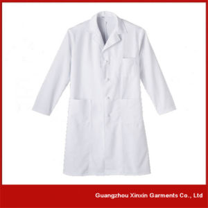 2017 New Deign Doctor Gown, White Long Sleeve Lab Coat (H4) pictures & photos