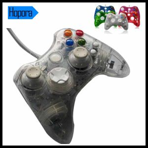 Blue Wired Transparent Controller for xBox 360 Console pictures & photos