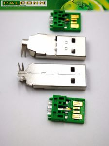 SUS304 USB3.0 Plug Series a, 5 Pin, 8A Solder Type pictures & photos