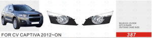 Front Fog Lamp for Chevrolet Captiva 2012-on
