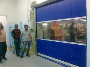 Fabric New Design PVC High Speed Roller Shutter Door pictures & photos
