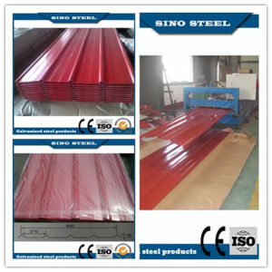 Prepainted Trapezoidal Galvalume Corrugated Steel Sheet for Roof pictures & photos