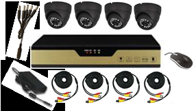 Infrared Home Surveillace System CCTV Kit and Ahd Camrea with DVR pictures & photos