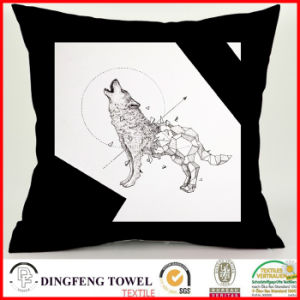 Black and White Series Abstract Wolf Fashion Digital Printing Cushion Cover pictures & photos