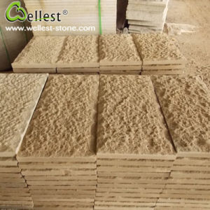 Yellow Sandstone Hand Pineapple Finish Floor Paving Wall Tile pictures & photos