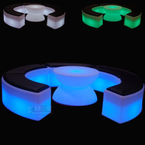 LED Bend Stool Color Changeing Ottoman Rechargeable Ottomans pictures & photos