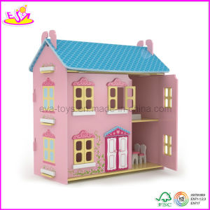 2014 Funny Wooden Doll House Toy, Fashion New Wooden DIY Model Miniature Doll House, Preschool Child Doll House for Sale W06A029 pictures & photos