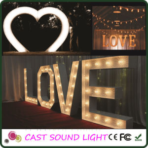 Customer Hollywood Style Marquee Letter/3D Letter Sign Lights pictures & photos