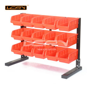 15-Piece Red Storage Bin Rack Suitable for Home (HT-B012)