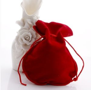 High Quality Small Velvet Gift Bag Jewelry Bag with Drawstring pictures & photos