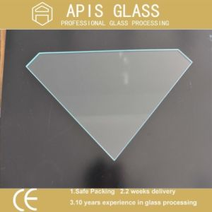 10mm Pentagon Shape Shower Wall Corner Tempered Glass with Polished Edges pictures & photos