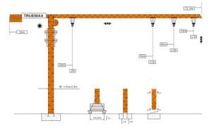 Truemax Tower Crane Hoist Crane (TCP7015) pictures & photos
