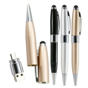 Touch Pen Smart Phone USB Flash Drive Metal Pen Drive 64GB Pendrive 8GB OTG External Storage Micro USB Memory Stick Flash Drive pictures & photos
