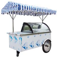 Vitrinas for Ice Cream Gelato Cart pictures & photos