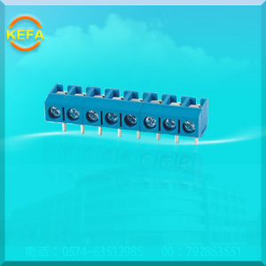 Euro Type PCB Screw Terminal Block Connectors with Right Angle Pin Header Kf301r-5.0 pictures & photos