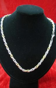 2014 Hot New Products Stainless Steel Necklace, 316L Stainless Steel Jewelry with Gold Plated pictures & photos
