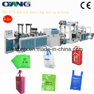 Onl-A700-800 The Leader of Full Automatic Ultrasonic Nonwoven Fabric Handle Bag Making Sealing Machine Price pictures & photos