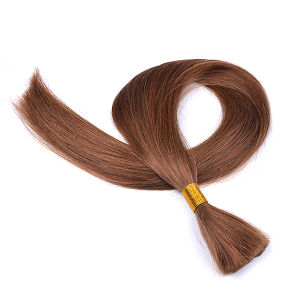 Peruvian Human Braiding Hair Bulk Hair Extensions No Weft for Braiding 3 Bundles No Weft No Attachment Straight Bulk Hair pictures & photos