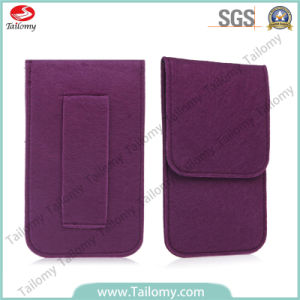 2014 Wholesale Felt Mobile Pouch for iPhone 6 pictures & photos
