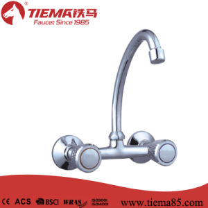 Two Handle Polished Brass Kitchen Faucet (ZS63402) pictures & photos
