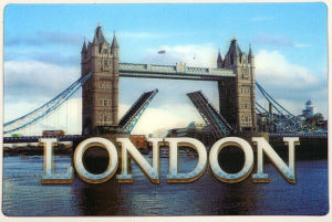 Printing Reasonable Price 3D Lenticular London Postal Cards pictures & photos