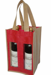 Double-Magnum Non Woven Beer Bag with Window pictures & photos