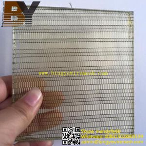 Decorative Glass Laminated Metal Wire Mesh pictures & photos