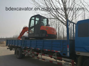 Chinese Construction Machinery 0.3m3 Wheel Excavators Machine for Sale pictures & photos