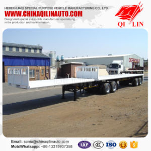 Double Axles Dolly Flatbed 20FT 40FT Container Superlink Trailer pictures & photos