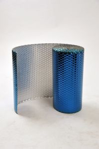 Singles Sided Aluminum Foil Backed Blue PE Coated Heat Insulation Material pictures & photos