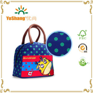 Colorfull Dotted 600d Poltester Cooler Lunch Bag pictures & photos