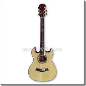 "40"" Double Cutaway Sunburst Electric Acoustic Guitar with EQ (AF4a8DCE) pictures & photos"