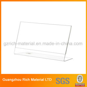 Clear Menu Stand Plastic Acrylic Menu Holder for Hotel pictures & photos
