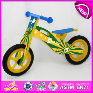2014 New Wooden Bicycle Toy for Kids, Popular Wooden Balance Bike Toy for Children, Fashion Wooden Toy Bicycle for Baby Factory W16c080 pictures & photos