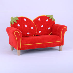 China Sweet Home Strawberry Children Furniture Fabric Sofa