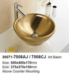 Round Ceramic Art Wash Basin (30071) pictures & photos