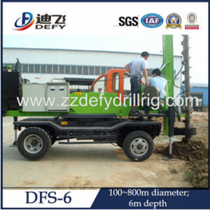 6m Depth Dfs-6 Truck Mounted Hydraulic Auger Pile Driver Drilling Machine pictures & photos