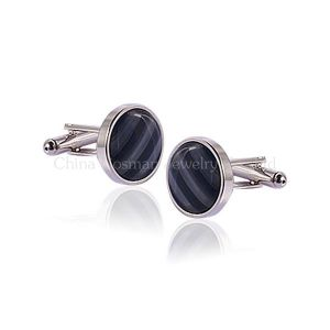 2014 Men′s Fashion Noble Silver Wedding Cufflinks pictures & photos