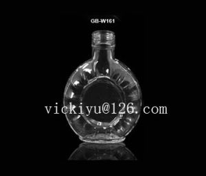 120ml Glass Vodka Bottle Glass Wine Bottle Liquor Bottle with Metal Cap