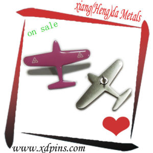 Custom Zinc Alloy Casting Airplane Pin pictures & photos