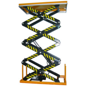 Electric Hydraulic Four Scissors Lifting Platform pictures & photos