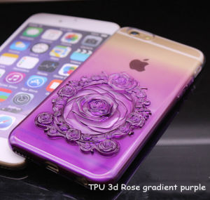 Hot Selling TPU 3D Rose Gradient Blue Cell Phone Case Cover for iPhone 6s /6s Plus iPhone7/7 Plus pictures & photos