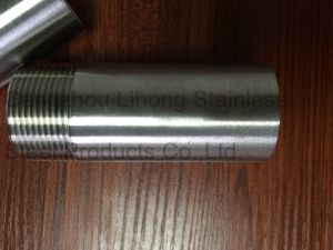 Stainelss Steel Bsp Welding Nipple Machined Inside pictures & photos