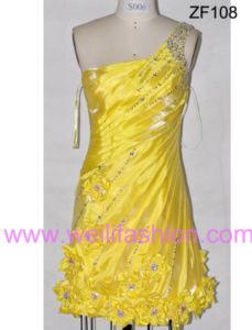 Cheap Short Applique Pleated Beading Satin Cocktail Dresses