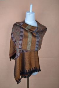 Silk & Wool Jacquard Scarf (12-BR010207-1.2) pictures & photos