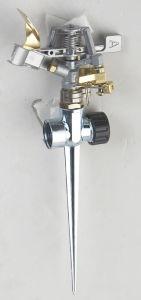 Zinc Impulse Sprinkler with Spike Base (GU513)
