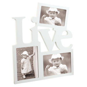 Wooden Wall White Collage Photo Picture Frame pictures & photos