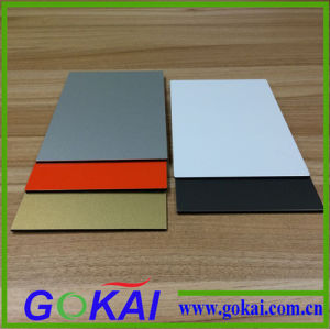 Black Fireproof Coating 4mm Building Aluminum Composite Panel Interior Wall Panels pictures & photos