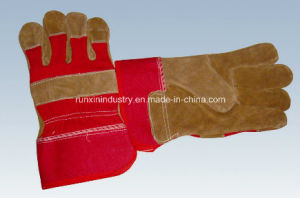 Full Palm Cow Leather Working Gloves 1104 pictures & photos