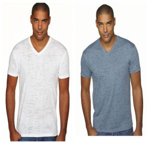 Customized V-Neck T-Shirt for Men pictures & photos
